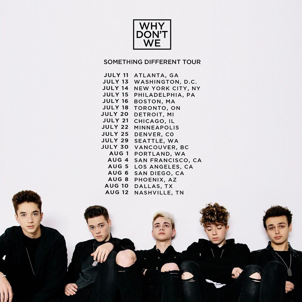 why don t we sell the Buy why don't we tickets online - all tickets for the why don't we 2018 tour dates available online - 100% secure & guaranteed.