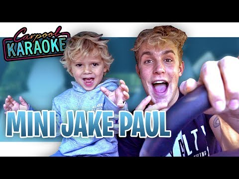 Carpool Karaoke with Mini Jake Paul
