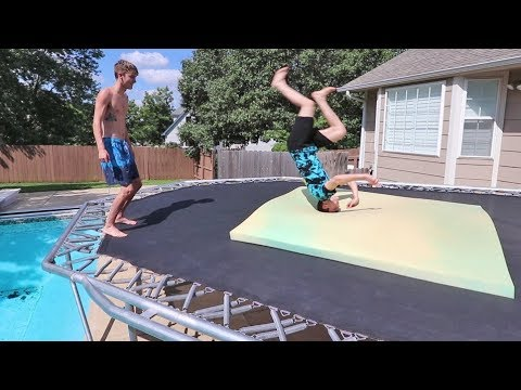 TEACHING MY NONATHLETIC BROTHER A BACK FLIP!