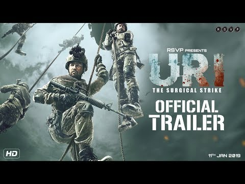 URI Hindi Movie Official Trailer 2019.
