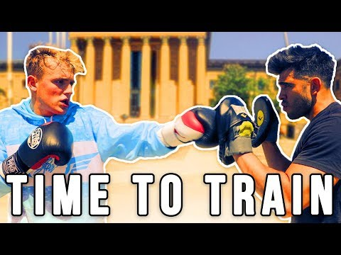 Jake Paul starting his training for boxing match to fight against Deji.