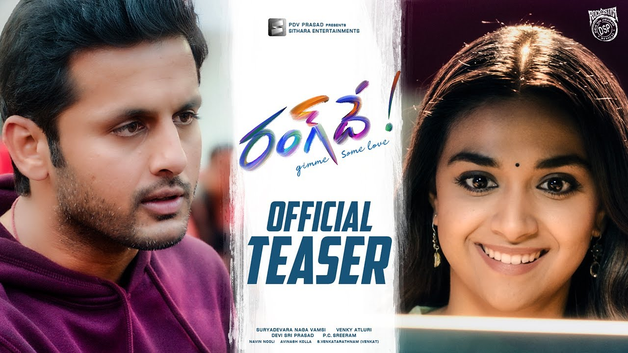 Rang De Telugu Movie Teaser 2021.