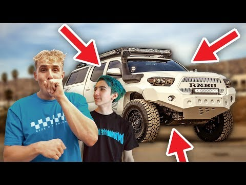 Jake Paul got his new Truck with merch line RNBO