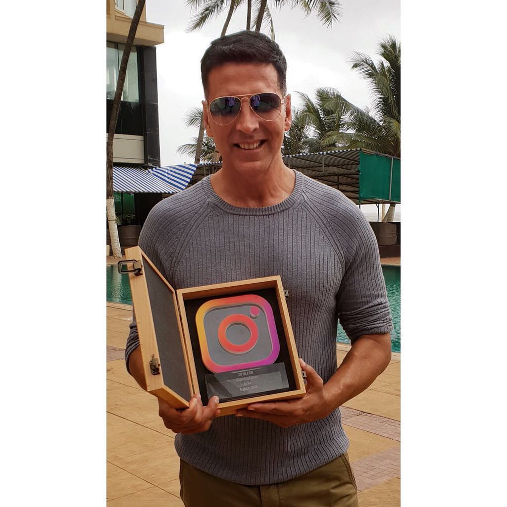 Akshay Kumar is the first Male actor to reach the 20 million followers on Instagram.
