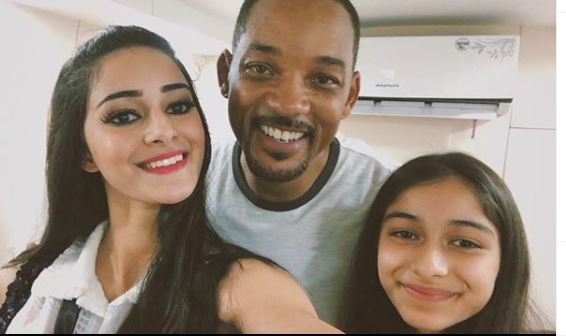 Ananya Panday, Rysa Panday with Will Smith