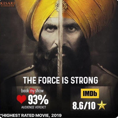 Kesari Hindi Movie Review 2019-Akshay Kumar