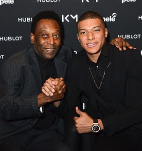 ​In the partnership with Hublot, Mbappe got a chance to meet football legend King Pele.