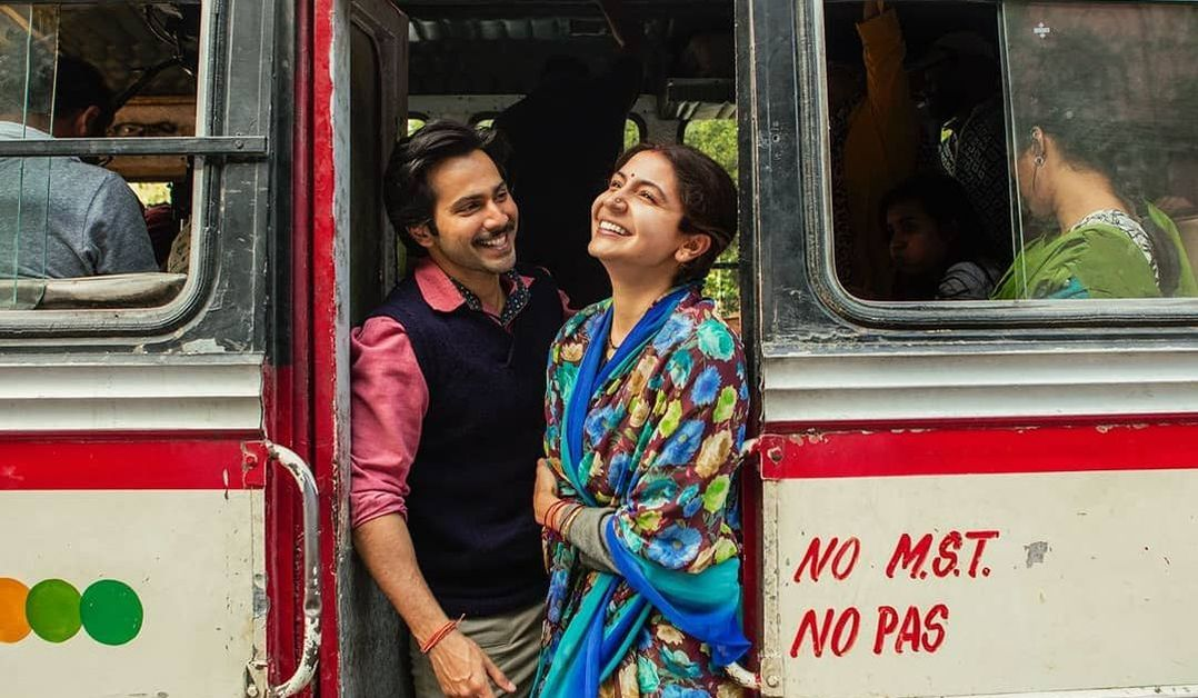 Varun Dawan and Anushka Sharma on sets of Sui Dhaaga movie