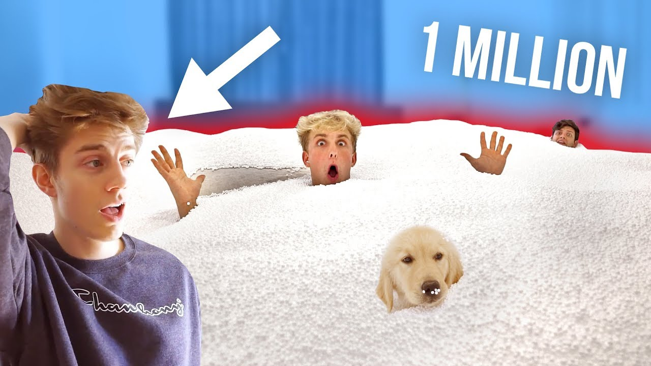 Jake Paul FILLED his  ROOMMATES ROOM WITH 1 MILLION BEAN BAG BEADS