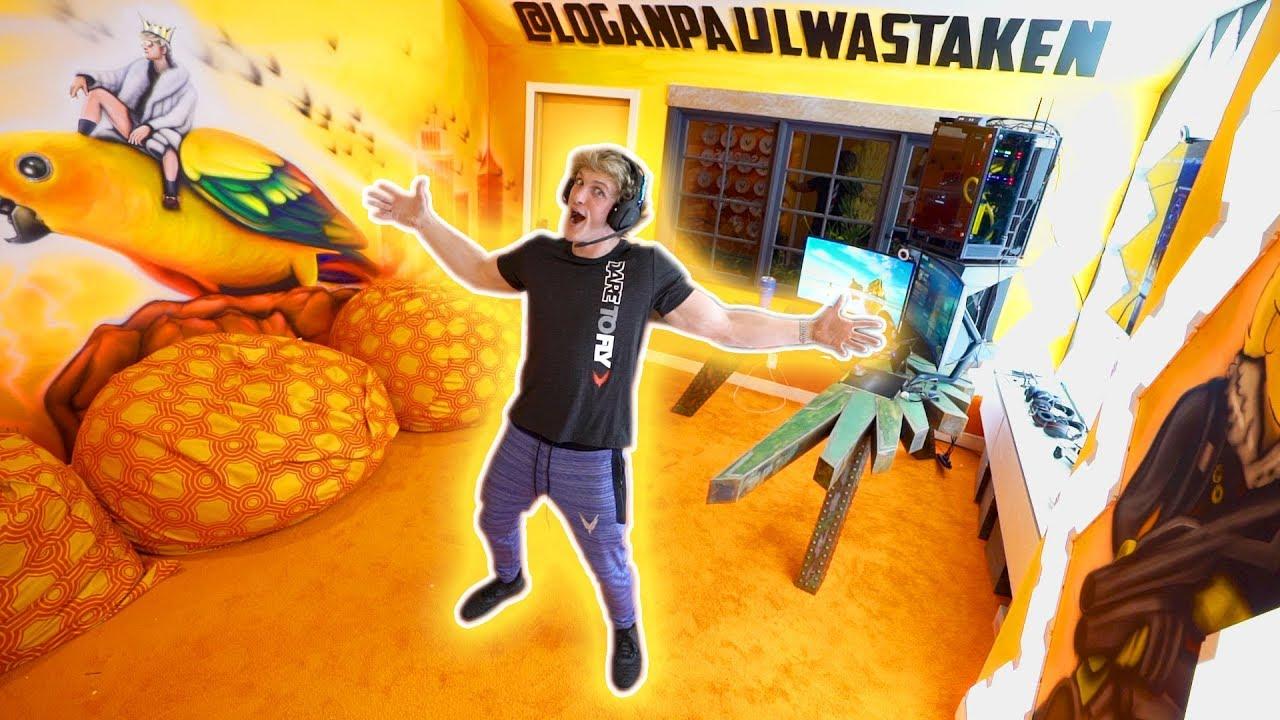 Logan Paul revealed his NEW FORTNITE GAME ROOM - Stunmore