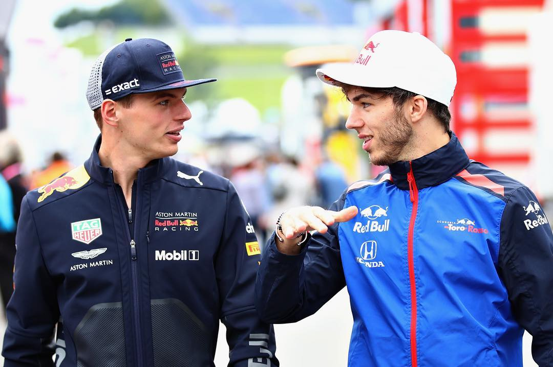 ​Max Verstappen welcomes his new teammate Pierre Gasly to Red Bull Racing Family.