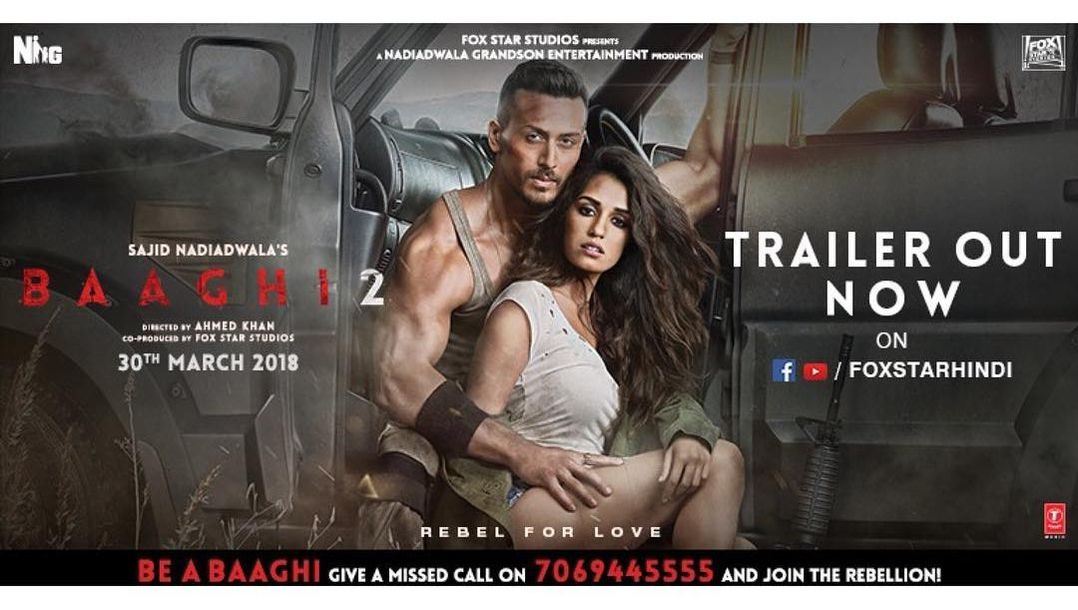 BAAGHI 2 OFFICIAL MOVIE TRAILER 2018.