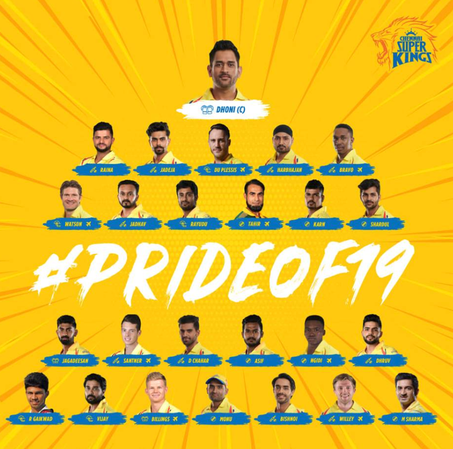 Chennai Super Kings 2019 Squad- IPL 2019.