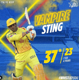 MS Dhoni Won Super Striker of the match - CSK vs KXIP