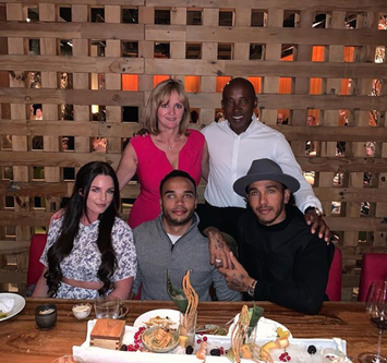 Lewis Hamilton back in London for his Father Birthday celebrations.