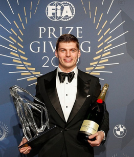 Max Verstappen at FIA Awards 2020