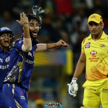 Mayank Markande expression when he took wicket of MS.dhoni