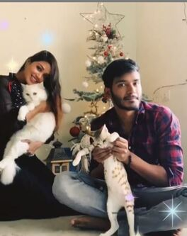 Nivetha Pethuraj with her brother