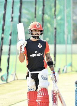 Virat Kohli practice at chinnaswamy stadium