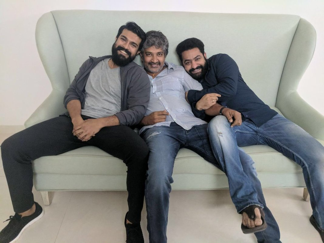 Ram Charan and Jr.Ntr headed to Los Angeles with director Rajamouli.